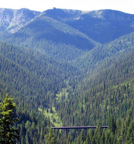 Hiawatha bike / hike trail in Idaho  - 15 miles (gulp)!  Look how beautiful it is though!