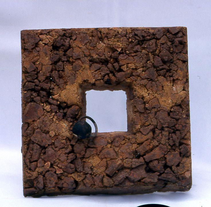 """Nusret Algan -1998- """"Kare Seri III"""" 20x20x4 cm"""