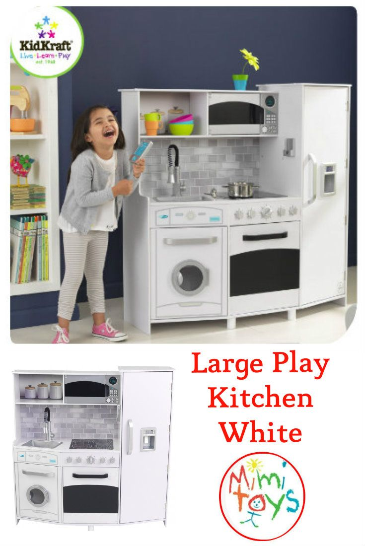 Play Kitchen Large White By Kidkraft Comes With Such A Wealth Of Activities That It Will Ins Food