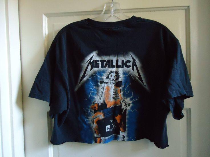 Vintage 90s Repro METALLICA Half Shirt sz S/M