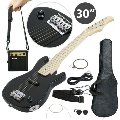Black-30-inch-Beginner-Electric-Guitar-Kit-with-5-watt-Amp-amp-Accessories