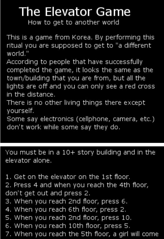 This how to jam the elevator get stuck inside and starve to death!>>> NO, I don't think so, but it is a way to prove that some people have no life. :)