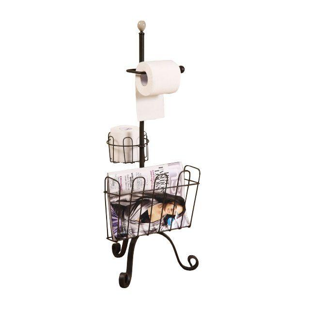 Industrial Bathroom Metal Floor Rack | dotandbo.com Practical, affordable, yet stylish!