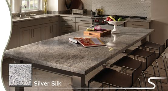 Possible granite countertop sensa silver silk from for How to clean kitchen countertops