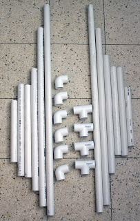 PVC Pipe goal posts for soccer and other sports - if you haven't used pipe for crafts, games, or even marshmallow guns, you don't know what your missing ;-)