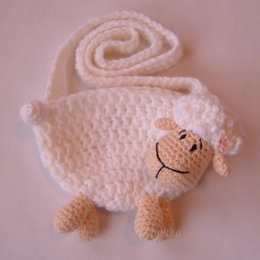 sheep purse for little girl