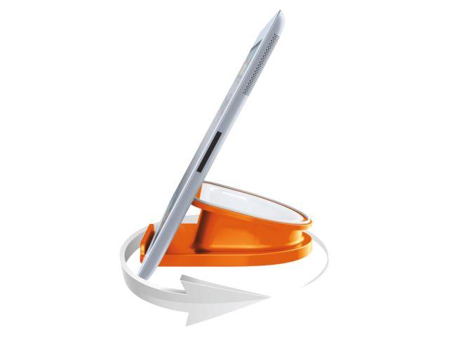 Oranje bureaustandaard van Leitz voor je iPad of tablet #DKVH