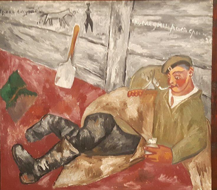 Soldato a riposo.  1911. Tret'jakov Gallery