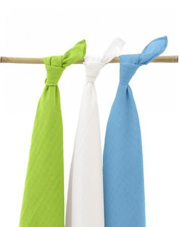 Jollein муслиновые 115х115 см 3 шт. аква-лайм-белая  — 1890р. -- Комплект пеленок 115х115 см 3 шт. Jollein сделан из мягкой дышащей ткани - муслина. Пеленки идеально подойдут для каждодневного использования: во время кормления, переодевания, в качестве пеленок-подгузников, легкого одеяла или накидки.