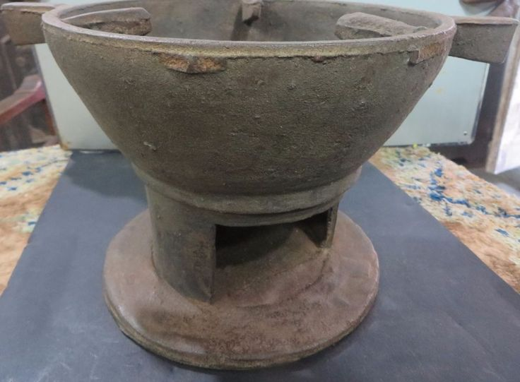 Cast Iron Firepit Outdoor Cooking Heating Wood Coal Fuel Part Of Kitchen