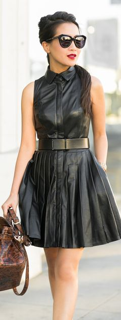 style leather dress
