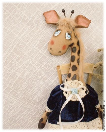 Жирафа Любаша - тёмно-синий,жираф,жирафик,жирафа,кукла,ароматизированная игрушка