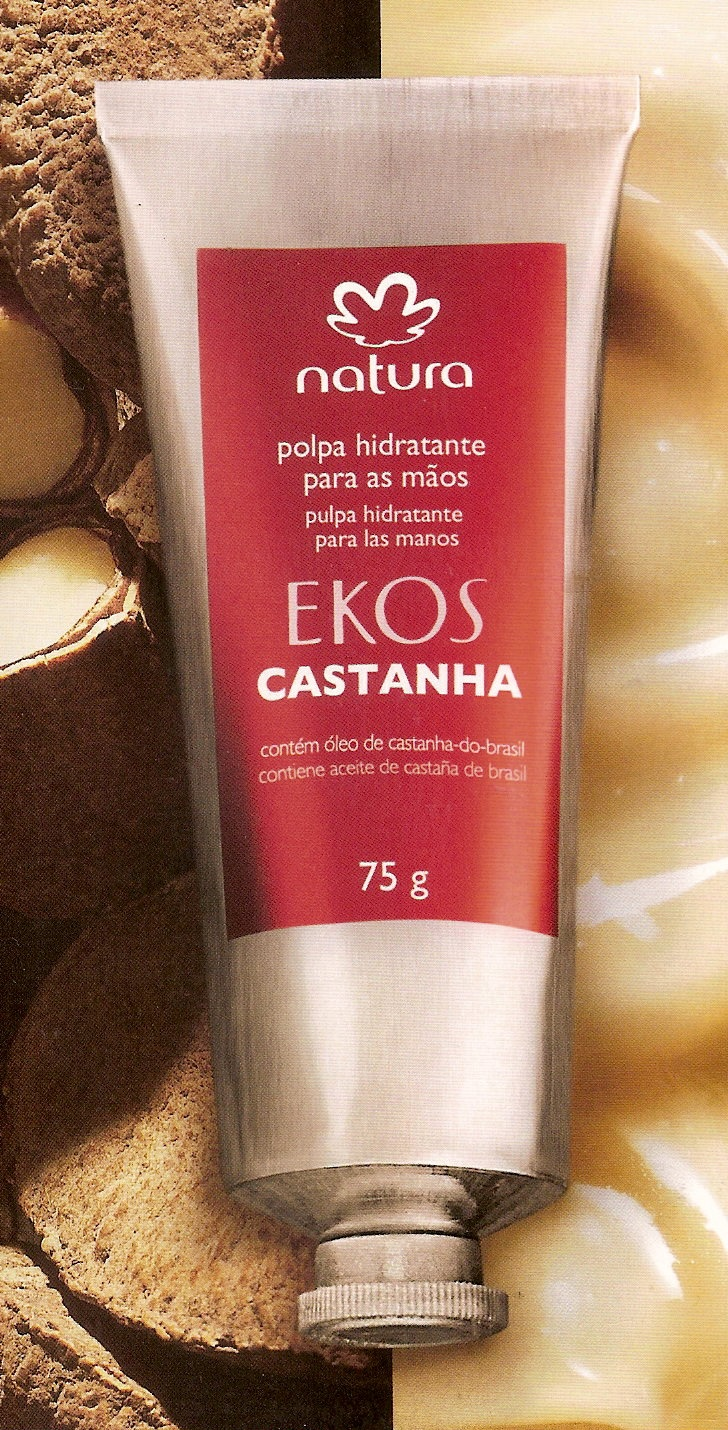 Natura EKOS chestnut hand cream.