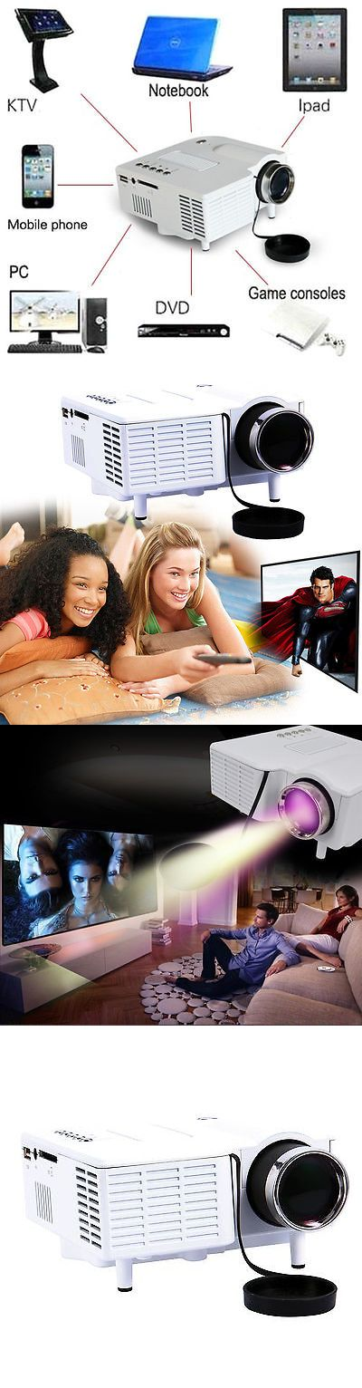 Home Theater Projectors: Mini Multimedia Projector Home Cinema Theater For Pc Laptop Iphone Ipad Dvd Wxfa -> BUY IT NOW ONLY: $38.68 on eBay!