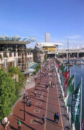 Wander through Darling Harbour - filled with bars, restaurants and a great waterfront.