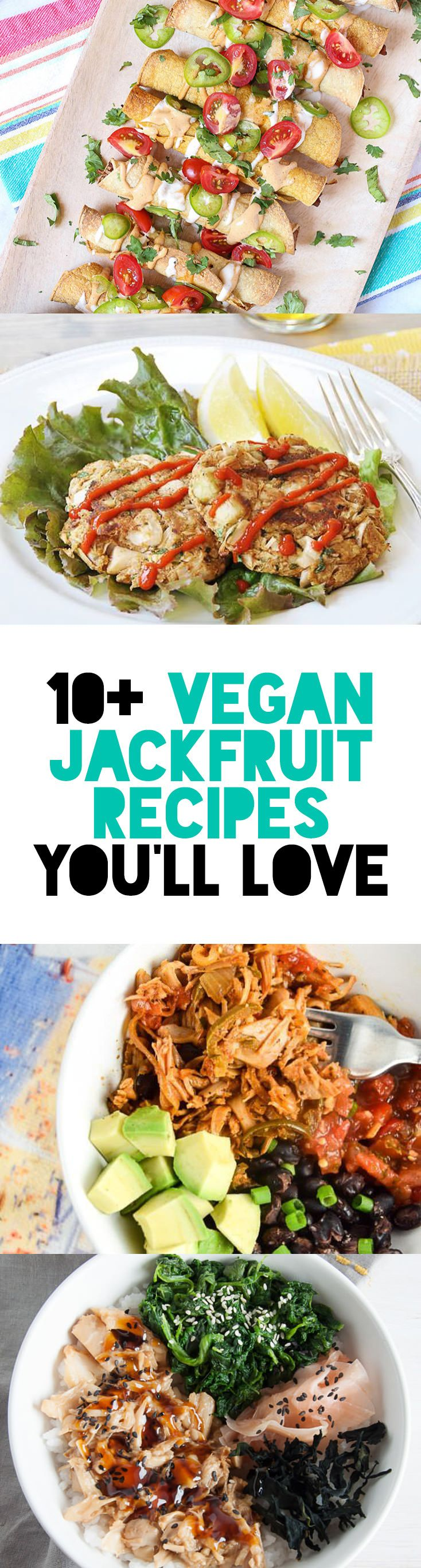 10+ Vegan Jackfruit Recipes You'll Love! via @elephantasticv