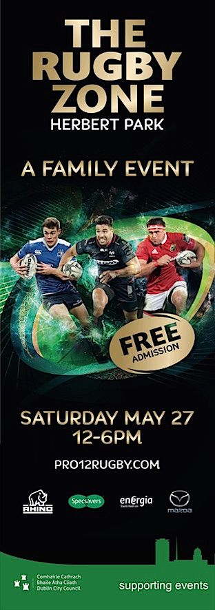 The Rugby Zone at Herbert Park - Pro 12 Rugby #civicmedia2017