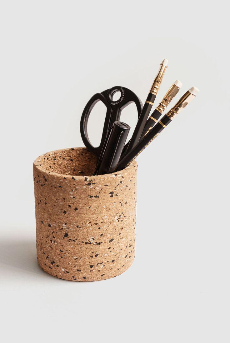 Milligram Cork Pen Pot Stationery Shop Stationery