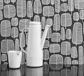 Little Trees Charcoal Wallpaper