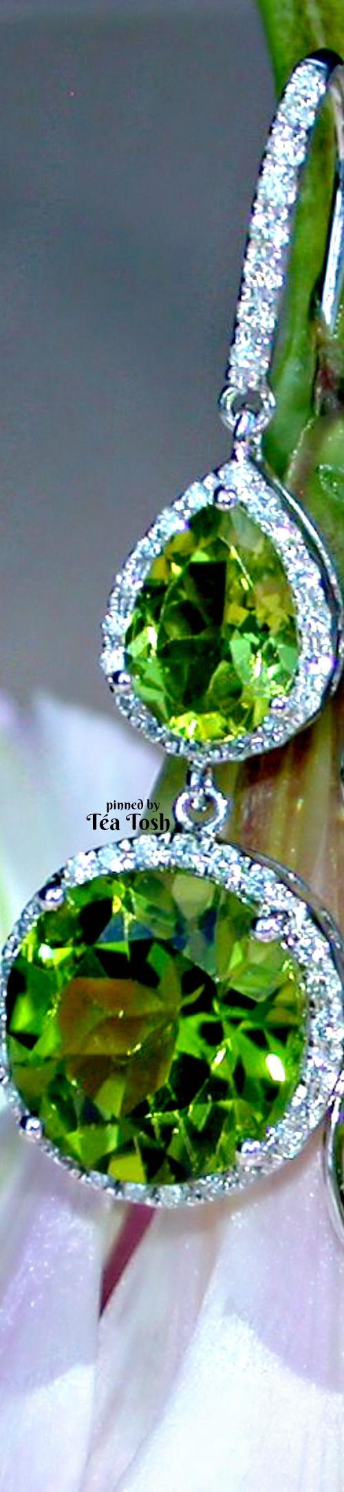 ❇Téa Tosh❇  Peridot and diamond earrings