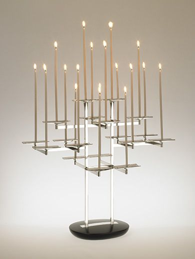 David Mellor's silver candelabrum for the City of Sheffield, 1960.