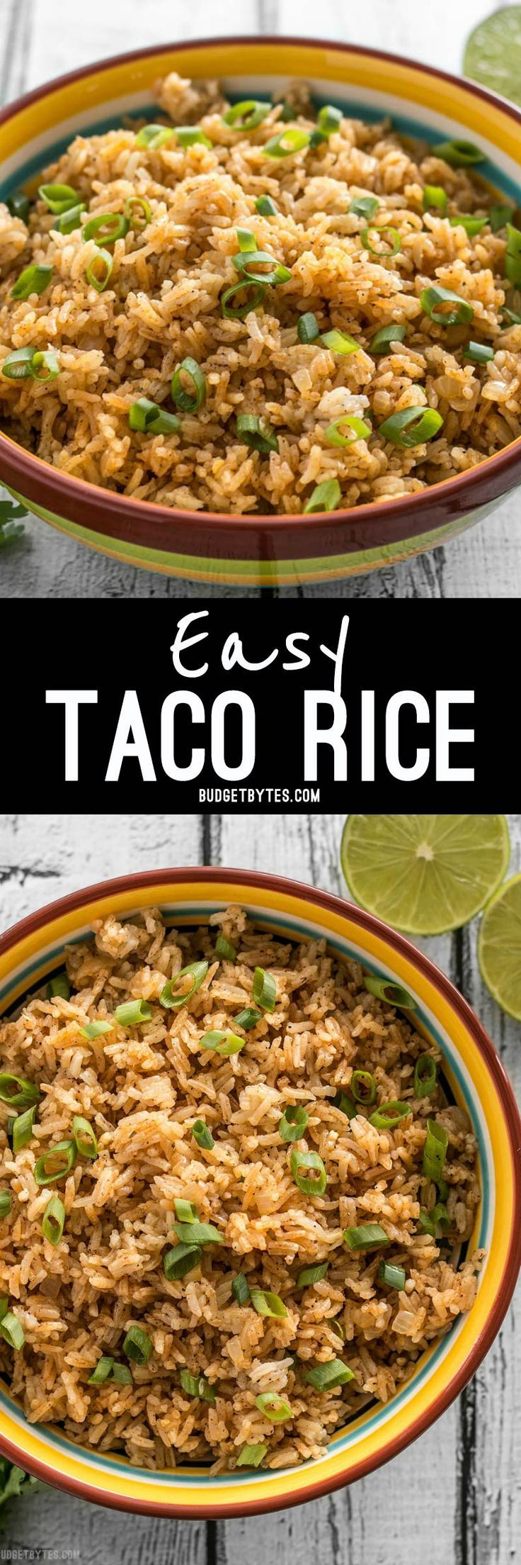 This flavorful Taco Rice is packed full of herbs and spices, but is neutral enough to serve as the base for several different recipes, like bowl meals, burritos, and more!