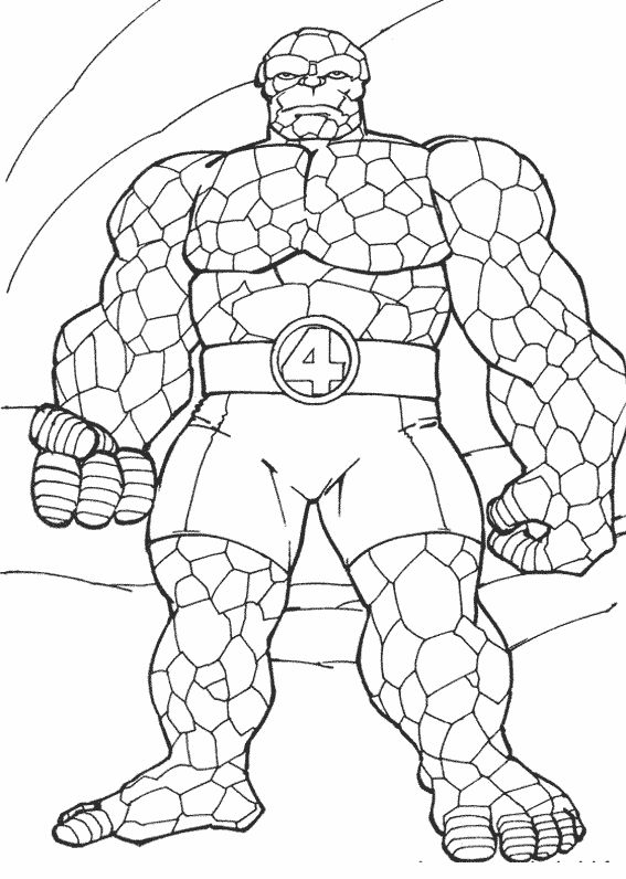 printable coloring pages fantastic four superheroes