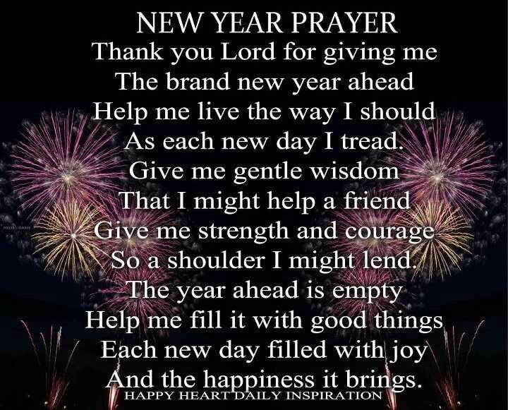A NEW YEAR PRAYER  FOR YOU!