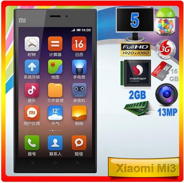 Xiaomi Mi3  El buque insignia de Xiaomi, en su versión de 16 GB