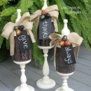 Give Thanks Always { Fall Apothecary Jars}