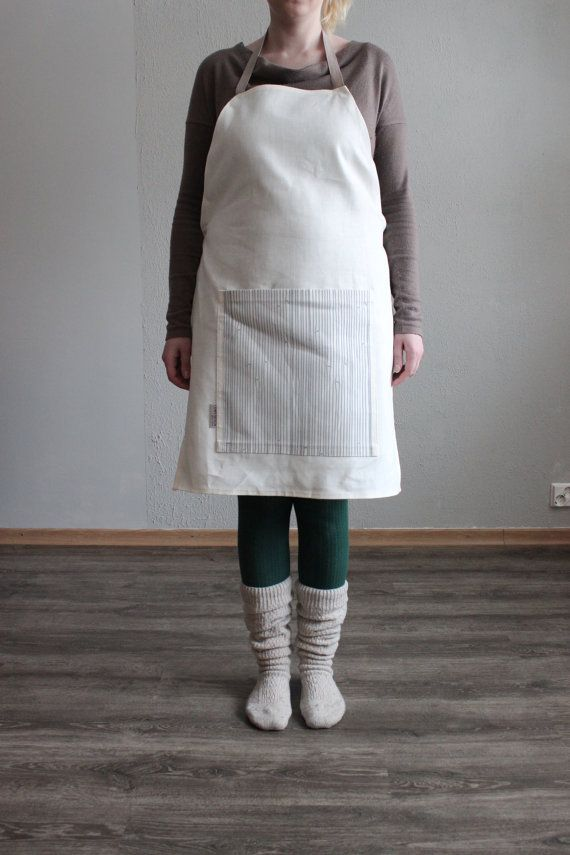 BAMBOO Apron Natural White by LEMPIDESIGN on Etsy, $40.00