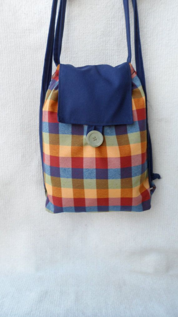 Fabric backpack, string backbag,fashionable, unique and sustainable,