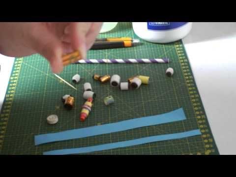 Seconda lezione realizzare perline di carta a forma cilindrica