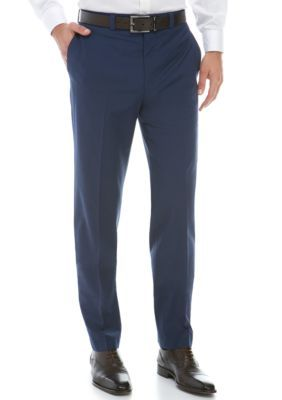 Calvin Klein Men's Navy Wool Stretch Dress Pants - Midnight - 36 X 34