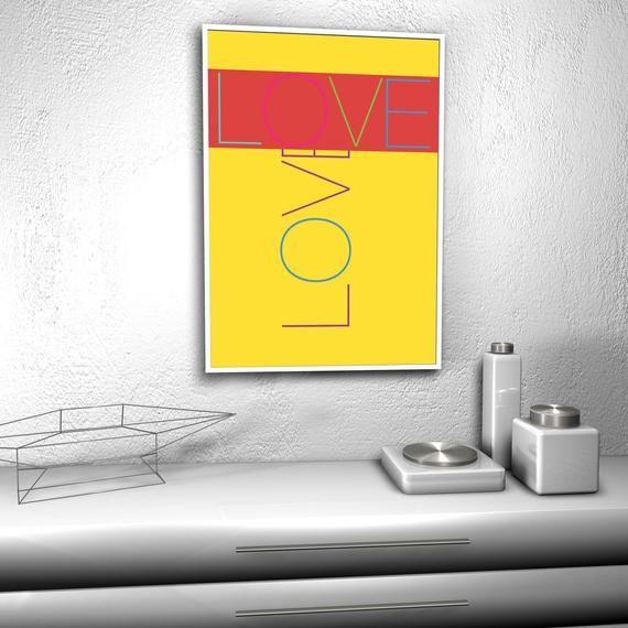 Typo Poster Love 1d Kunstdruck Geschenk Liebe Freundschaft Modernes Wohnen Junges Wohnen Wohnart Schoner Wohnen Gruss Bild Poster Junges Wohnen Und Kunstdruck