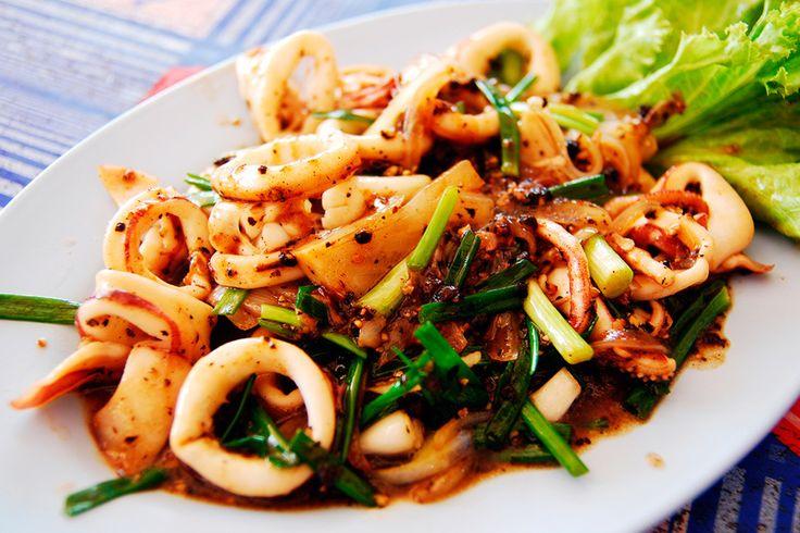 Calamares en salsa de soja