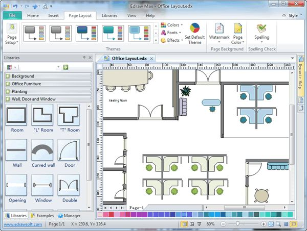 How to make a floor plan in excel gurus floor for Building layout tool