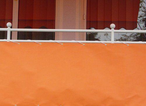 Angerer Balkonbespannung PE-Gewebe Uni, Orange, 90 cm hoch, L�nge: 6 Meter