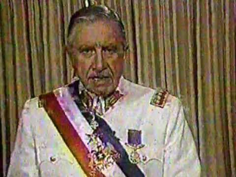 Pinochet ,Presidente de Chile: Discurso de despedida completo con himno nacional
