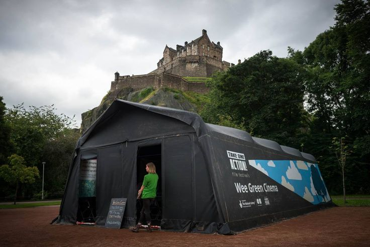 """Custom clear span stretch tent for """"The Wee Green Cinema"""" - www.stretchstructures.co.uk"""