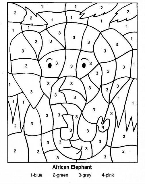 Colora Coi Numeri Giochi Didattici Per Bambini Attivita Con Il Colore Color By Numbers Pagine Da Colorare Per Bambini