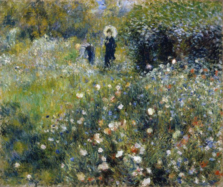 Пьер Огюст Ренуар - Женщина с зонтиком в саду
