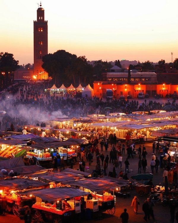 Highlights of Marrakech Morocco   JEMAA EL FNA & THE NIGHT MARKET This vast plaza at the heart of the medina is truly the eye of the Marrakech storm. Quite frankly, to the unaccustomed, Jemaa el-Fna is nuts. By night, Marrakech's main square transforms into a circus, a theatre and a restaurant with the intoxicating appearance of the renowned night market. Visit the blog to read & see more...: