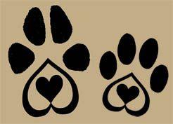 dog paw tattoos