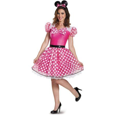 Pink Minnie Mouse Glam Women's Plus Size Adult Halloween Costume, XL, Size: XLarge (18-20)