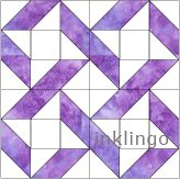 Good choice for Gracie's quilt. Inklingo Ribbon Quilt Block