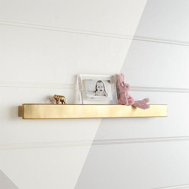 Metallic Gold Wall Shelf Crate And Barrel Gold Shelves Wall Shelves Wall Cubbies