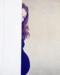 leuke zwangerschapsfoto binnen