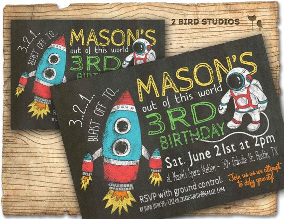 Best 25 Rocket birthday parties ideas – Rocket Ship Birthday Invitations