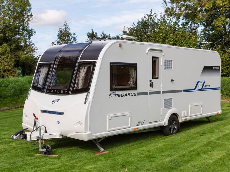 The Practical Caravan Bailey Pegasus GT70 Brindisi review – 1 - The anniversary-edition Bailey Pegasus GT70 Brindisi is priced from £19,799 OTR and has an MTPLM of 1450kg (© Phil Russell/Practical Caravan)